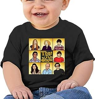 Huiliyuanshiye Boys Girls Baby Short Sleeve T-Shirt That 70s Show Toddler Kids 100% Cotton Tee