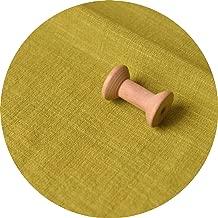 130cm x50cm Thin Solid Color Sand Washing Treatment Cotton Linen Cloth slub Soft Fabric DIY Dress Robes Clothing Handmade 160g/m,Fluorescent Green