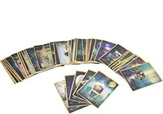 Fortune Telling Tarot Deck Junlucki Fate Divination Tarot Hologram Paper Mystical Fate Playing Card Interactive Game Toy Table Game Cards Decks for Family Friends Party English