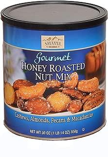 Savanna Orchards Gourmet Honey Roasted Nut Mix. Cashews, Almonds, Pecans &Macadamias. 30 oz. (Pack of1)