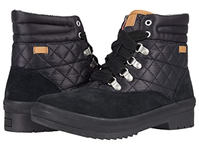 Keds Camp Boot Suede Quilted Nylon WX (Black) Women