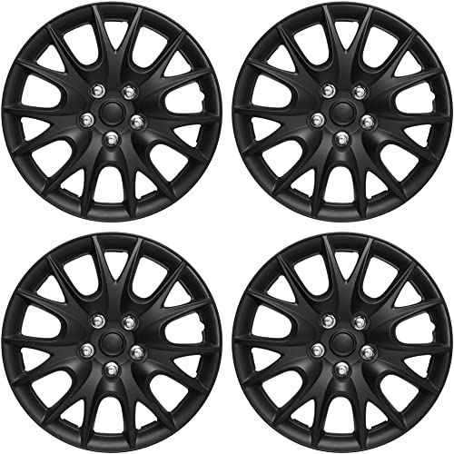 discount 15 inch Hubcaps Best for 1997-1999 Nissan Maxima - (Set of 4) Wheel Covers 15in Hub Caps Rim Cover - Car online Accessories for 15 inch Wheels - sale Snap On Hubcap, Auto Tire Replacement Exterior Cap - Black online