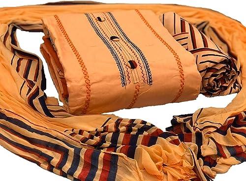 Women S Cotton Dress Material 1 500 2080 Orange