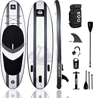 Roc Inflatable Stand Up Paddle Board with Premium sup Accessories & Backpack, Non-Slip Deck, Waterproof Bag, Leash, Paddle...