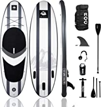 Roc Inflatable Stand Up Paddle Board W Free Premium SUP Accessories & Backpack, Non-Slip Deck. Bonus Waterproof Bag, Leash...