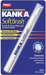 Kank-A SoftBrush Tooth/Mouth Pain Gel, Maximum Strength, 0.07-Ounce (Pack of 3)