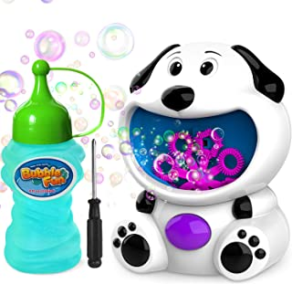 WisToyz Bubble Machine Dog Bubble Blower 500+ Bubbles Per Minute, Bubble Machine for Kids..