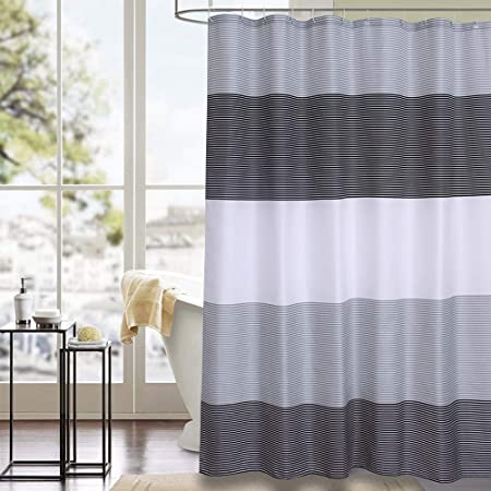 Shower Curtain Grey Polyester Fabric Bathroom Curtain Waterproof Shower Curtains 72 X 72 INCH Grey