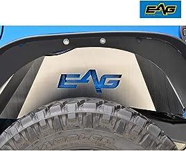 EAG Rear Inner Fender Liner Kit Silver Aluminum Fit for 07-18 Jeep Wrangler JK