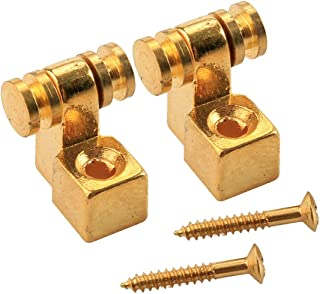 Musiclily Roller Guitar String Tree Guides Retainer for Fender Strat Stratocaster Tele Telecaster Electric Guitar, Gold (P...