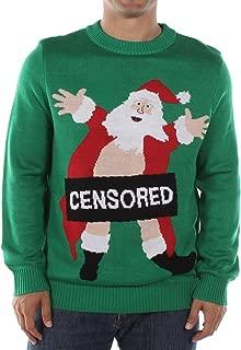 Tipsy Elves Men's Ugly Christmas Sweater - Censored Santa Christmas Sweater