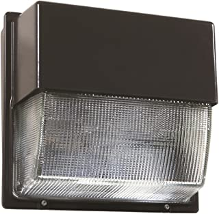 Lithonia Lighting ALO 50K Adjustable Light Output Dark Bronze Twh Glass Lens LED Wall Pack, 5000K   Daylight