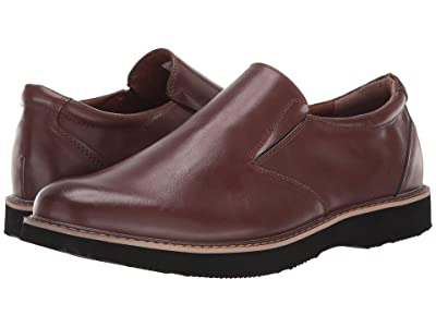 Deer Stags Walkmaster Twin Gore Slip-On (Dark Brown Synthetic) Men