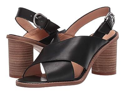 Madewell Ruthie Crisscross Heeled Sandal Leather (True Black) Women
