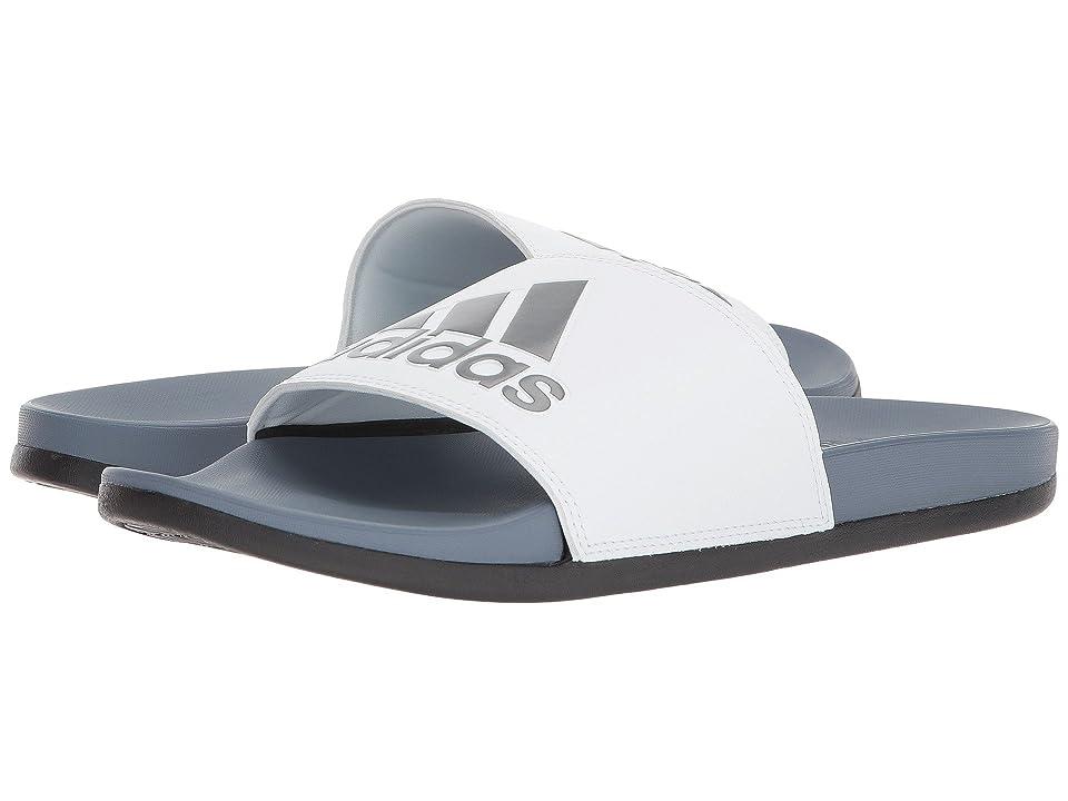 adidas Adilette CF+ Logo (Raw Steel/White/Black) Men