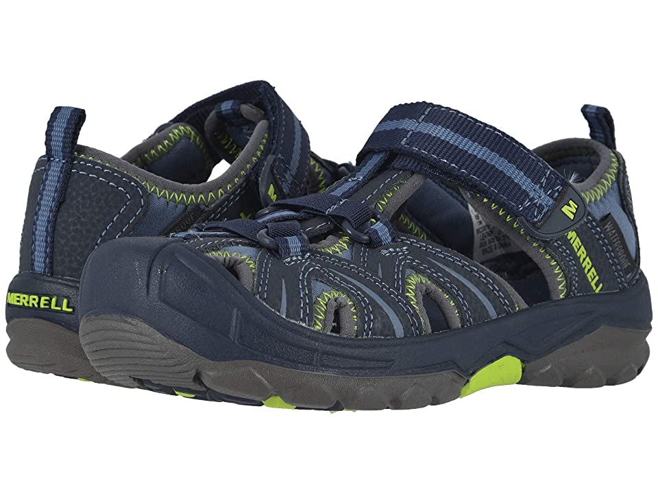 Merrell Kids Hydro H2O Hiker Sandals (Toddler/Little Kid) (Navy/Lime) Boy