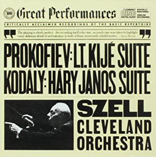 Prokofiev: Lieutenant Kije Suite; Kodaly: Hary Janos Suite Great Perfomances Series