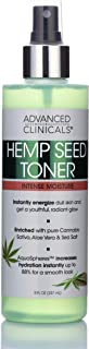 Hemp Oil Hydrating Facial Toner– Natural Extracts Energize Aging, Oily, & Dry Skin for Firm, Soft Glow – Alcohol Free Mois...