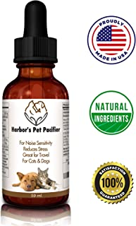 Harbor's Pet Pacifier Naturally Calms Dogs & Cats 59ml. Reduces Stress, Noise Sensitivity, Great for Travel. Easy to Use Beef Flavor Liquid. Herbal L-Theanine, GABA, Valerian, Chamomile, Ashwaghanda
