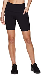 RBX Active Women's Athletic Fashion Ultra Hold High Waist Squat Proof Yoga Bike Short with Pockets
