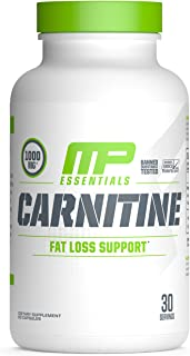 MusclePharm Essentials Carnitine Capsules, 1000mg Carnitine Blend, 30 Servings