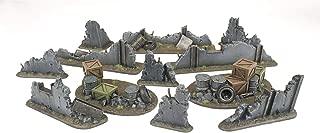 WWG War Torn City - Rubble and Barricade Kit – 28mm Warhammer Scenery 40K Necromunda Terrain