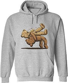 CCANE7 Men's Sudadera con Capucha Personalizada Bears Fighting Divertido gráfico Sudadera con Capucha