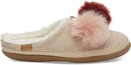 76ed5daff72 Toms Womens Ivy Faux Fur Closed Toe Slip On Slippers