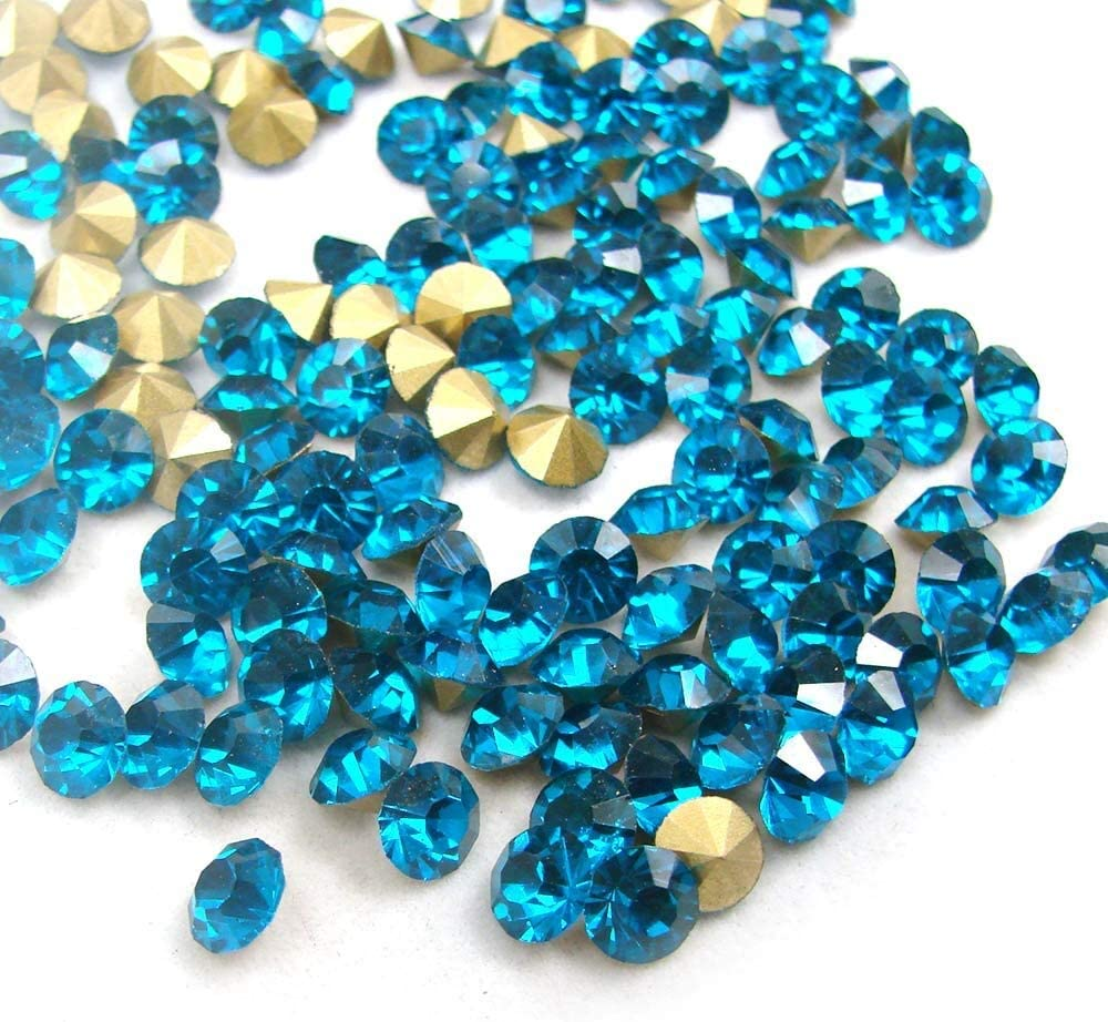 RD-64790 Decor Popular popular Rhinestone SS5-SS38 Selling Shiny Blue Zircon Gla Crystal