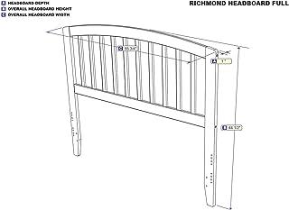 Atlantic Furniture Richmond Headboard Full Walnut