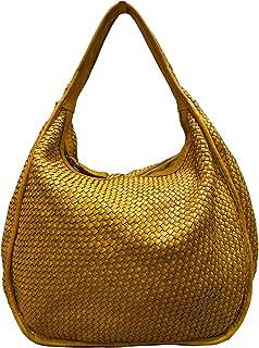 BZNA Bag Sanna gelb Italy Designer Damen Handtasche Schultertasche Tasche Leder Shopper Neu