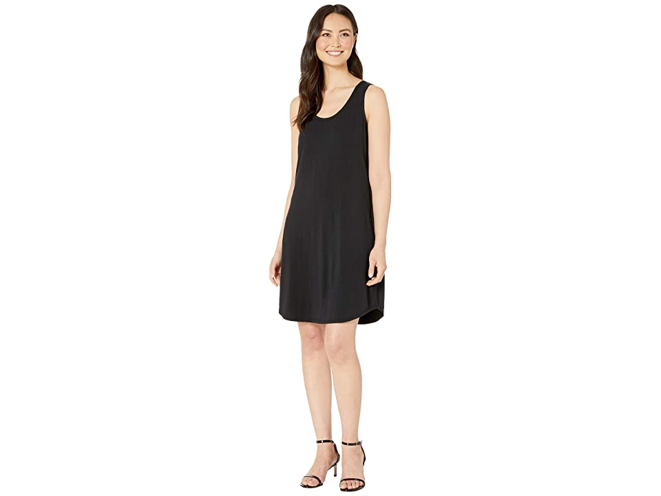 Mod-o-doc Tank Dress with Back Twist (Black) Women