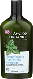 Avalon Organics Strengthening Peppermint Conditioner by Avalon for Unisex - 11 oz Conditioner, 312 g