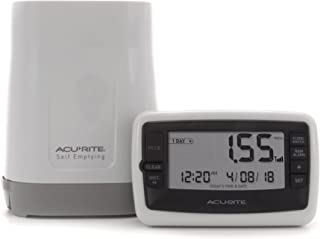 AcuRite 00899 Wireless Rain Gauge with Self-Emptying Collector,Multi