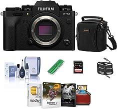 Fujifilm X-T4 Mirrorless Digital Camera Body, Black - Bundle with Shoulder Bag, 32B SDHC Card, Cleaning Kit, Card Reader, ...