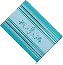 """Unique & Custom {13 x 19 Inch} Single Pack Rectangle """"Non-Slip Grip Texture"""" Large Reversible Table Placemat Made of Washable Flexible Polyester w/Coastal Sea Horse & Turtle Design [Multicolor]"""
