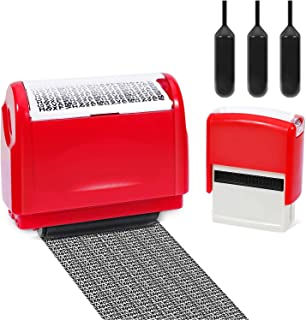 Itari Identity Theft Protection Roller Stamp for Id Blockout,Privacy Confidential and Address Blocker, with Self-Inking St...