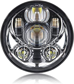 5-3/4 5.75 Inch Projector LED Headlight for Harley Davidson Motorcycles Headlamp 45W Chrome