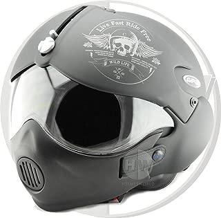 CFYBAO Casco Motocross Bluetooth Moto Casco Integrale con Doppia Lente personalit/à Casco Aperto Viso per Uomo e Donna