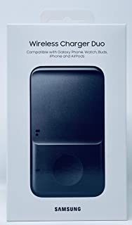 SAMSUNG Wireless Charger Fast Charge Pad Duo (2021), Universally Compatible with Qi Enabled Phones, and Select Samsung Wat...
