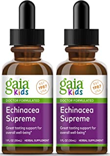 Gaia Herbs, GaiaKids Echinacea Supreme Herbal Drops, Immune Health, Rapid Immune Response Support, Physician Formulated, 1...