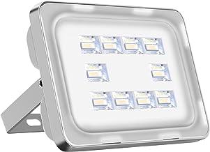 Viugreum - Lámpara LED para exteriores, 30 W, 3600LM, resistente al agua, generación VI Lámpara de bajo consumo Luz potente Super brillante Foco de jardín Garaje Blanco frío