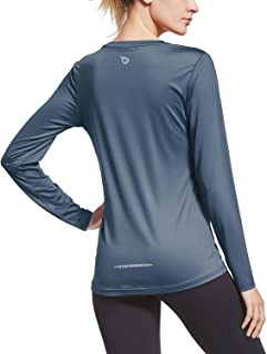 Women's Long Sleeve T-Shirt Quick Dry Running Workout Shirts
