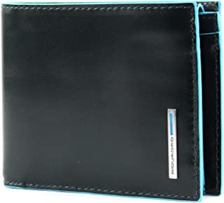 Men wallet with coin pouch Blue Square