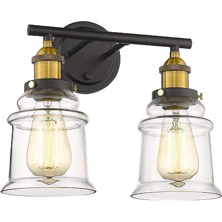 Amazon Com Beionxii Bathroom Vanity Light Fixtures Hallway Wall Sconce Antique Brass Black Bath Vanity Lamp Bxg002 Series Home Improvement