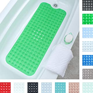 SlipX Solutions Green Extra Long Bath Mat Adds Non-Slip Traction to Tubs & Showers..