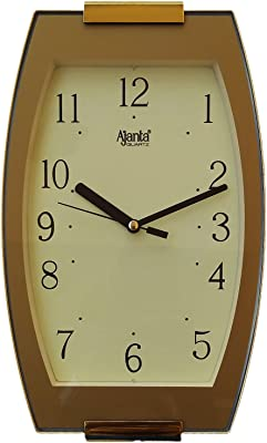 Ajanta Plastic Fancy Wall Clock (28 cm x 16.7 cm x 3.5 cm, Ivory)