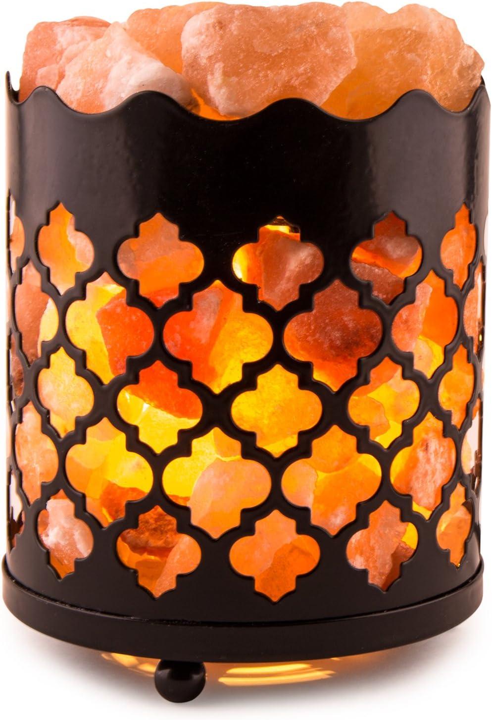 Himalayan Pink Salt Oakland Mall Lamp Basket Award-winning store Dimmer Bulb Cord