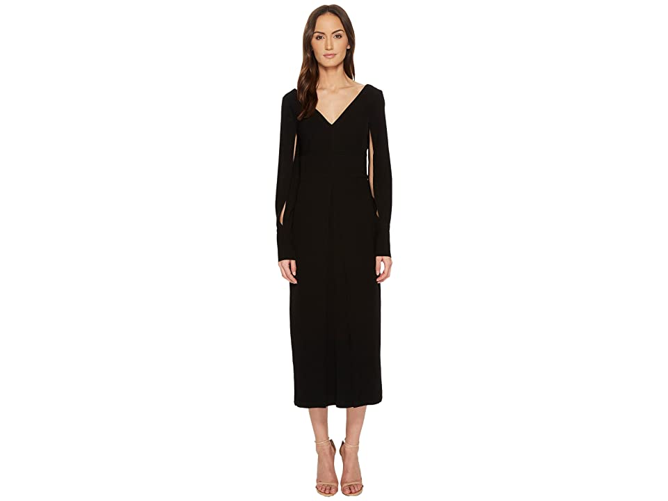 YIGAL AZROUEL Polyester Double Satin Suiting Crepe Dress (Black) Women