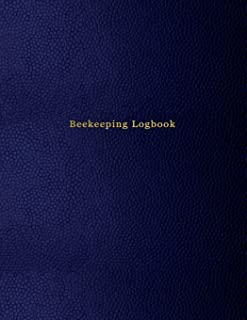 Beekeeping Logbook: Beehive inspection and maintenance log book for advanced beekeepers   Blue leather print design cover